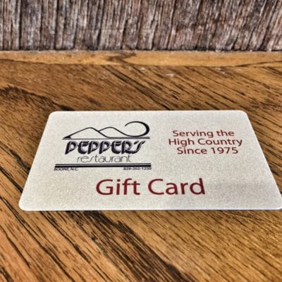 Peppers gift card boone nc